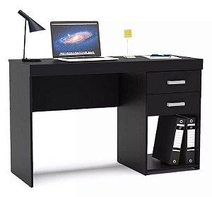 Mesa Para Escritório Computador 2 Gavetas 1 Nicho Malta Preto