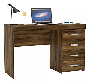 Mesa Para Escritório Computador 4 Gavetas Malta New Avelã
