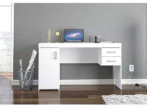 Mesa para Computador Escrivaninha 1 Porta e 2 Gavetas Miranda Branco