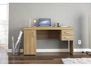 Mesa para Computador Escrivaninha 1 Porta e 2 Gavetas Miranda Castanho