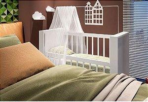 Mini Berço Mesa Infantil Multifuncional Branco Bedside Sleepers