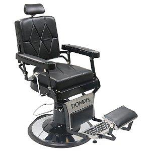 Cadeira De Barbeiro Reclinável Harley Profissional - Preto