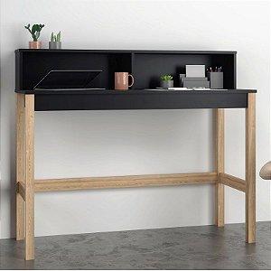 Mesa para Computador Escrivaninha Aparador Preto Pinus
