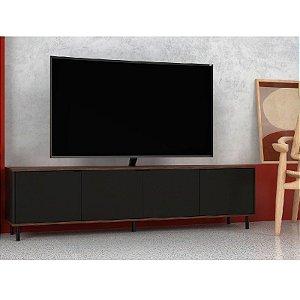 """Rack Home Para TV 50"""" 183cm Preto Castanho"""