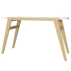 Mesa Escrivaninha Para Computador Branco Pinus
