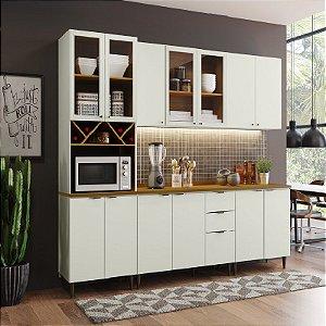 Cozinha Modulada Completa 100% MDF com Tampo 13 portas Henn