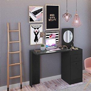 Penteadeira Escrivaninha Espelho Camarim 1 Gaveta 1 Porta