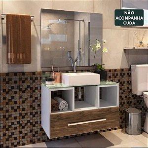 Gabinete Para Banheiro Completo Viena Mdf Balcão Espelho