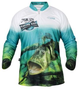 Camiseta De Pesca Uv Masc. Jogá Tucuna Azul