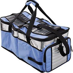 Bolsa Térmica Ice Cooler Mor 48 Litros 2 Divisória Azul