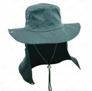 Chapéu Safari Com Proteção De Pescoço Jogá Verde