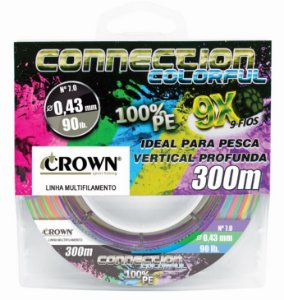 Linha Multifilamento Crown Connection Colorful 9x 300m-0,31mm