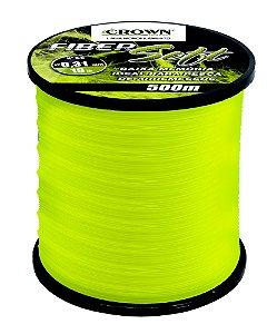 Linha Crown Fiber Soft Amarela 0,28mm - 16lb. 500m