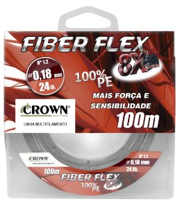 Linha Multifilamento Crown Fiber Flex 8x 0,45mm 100m