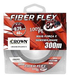 Linha Multifilamento Crown Fiber Flex 8x 0,30mm 60lb. 300m