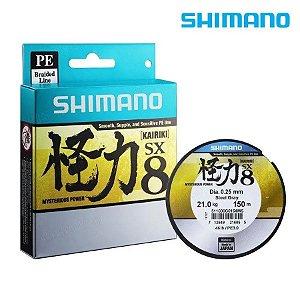 Linha Multi Shimano Kairiki SX 8 0.28mm 40lbs 300m Verde