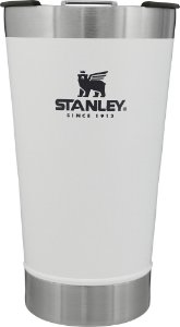 Copo Térmico de Cerveja  Stanley Branco Com tampa - 473 ML