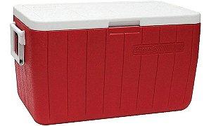 Caixa Térmica Coleman 48QT 45,4 Litros - Vermelho