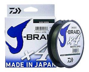 Linha Multifilamento Daiwa J-braid X4 0,25mm 30lb 270m