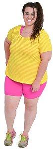 Blusa Acinturada Amarela