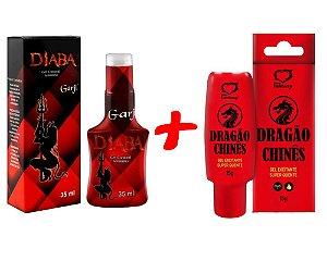 Poderoso Kit Óleo Excitante Diaba  + Óleo Dragão Chinês Sex Shop