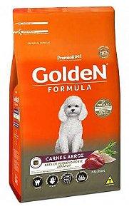 Ração Golden Formula Cães Adultos Raças Pequenas Carne e Arroz Mini Bits 3kg