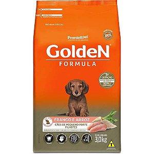 Ração para Cachorro Filhote Raças Pequenas Golden Fórmula Frango e Arroz 3kg
