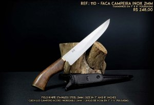 FACA SG CAMPEIRA INOX 2MM