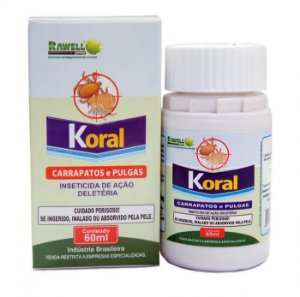 Inseticida Koral Carrapatos e Pulgas 60 ml