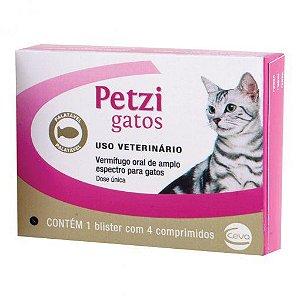 Petzi Gatos 4 Comprimidos