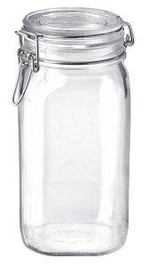 Pote de vidro com tampa hermética Fido - Bormioli Rocco 1,5 litros