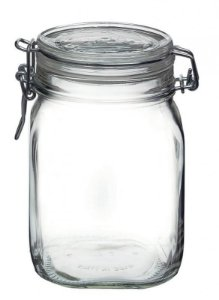 Pote de vidro com tampa hermética Fido - Bormioli Rocco 1,0 litros