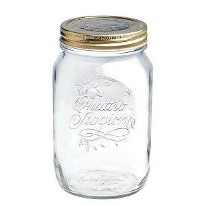 Pote de vidro com tampa Quattro Stagioni - 1,0 litro - Bormioli Rocco