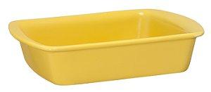 Assadeira Retangular - 18 x 23 x 5cm - Amarelo - MondoCeram Gourmet