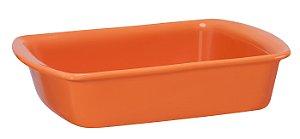 Assadeira Retangular - 18 x 23 x 5cm - Laranja - MondoCeram Gourmet