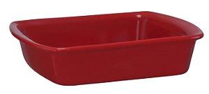 Assadeira Retangular - 18 x 23 x 5cm - Verde - MondoCeram Gourmet