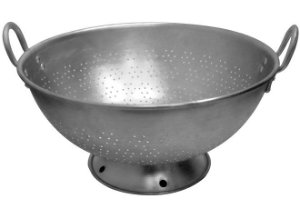 Tacho Alumínio Furo Fino com Pé 35 cm 9,25 L - Vigor