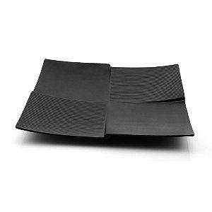 Prato Quadrado Black Melamina