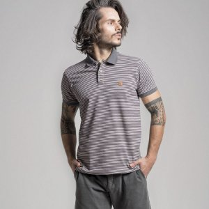 POLO STONE STRIPED - ROSA - LIMITED EDITION