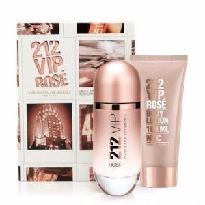 Kit 212 Vip Rose Feminino Eau de Parfum 80ml + Body Lotion 100ml
