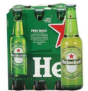 Cerveja Heineken Long Neck 330 ml (Pack com 6 Unidades)