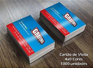 1000 Cartões de Visita - Tamanho 9x5cm - Papel Couche 250g - 4x0 cores - Verniz Total UV