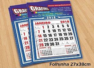 500 Folhinhas - Tamanho 27x38cm