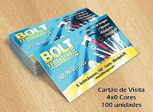 100 Cartões de Visita - Tamanho 9x5cm - Papel Couche 250g - 4x0 cores
