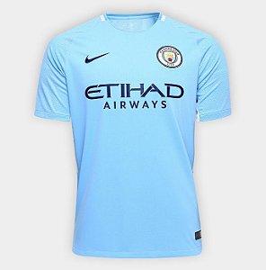 Camisa Manchester City Home 17 18 s nº Torcedor Nike Masculina - Azul Claro 6396e64c4ab9a