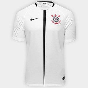 Camisa Corinthians I 17 18 s nº Torcedor Nike Masculina - Branco e Preto 66eab70cb7c87