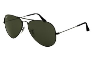 41a42ffe52 RAY-BAN CLUBMASTER OVERSIZED PRETO - LENTES VERDE CLÁSSICA G-15 ...