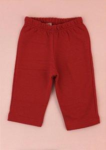 Calça Moletom Vermelha Cós Elástico Infantil Outlet