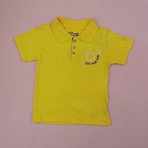 Camiseta Gola Polo Amarela Infantil Outlet Trick