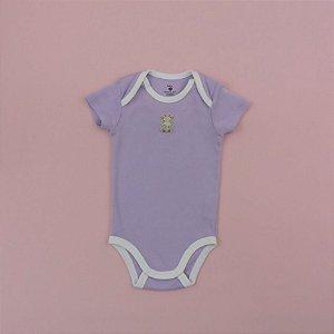 Body Lilás e Branco Infantil